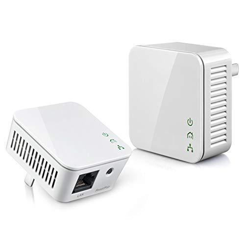 ZXCV 1 par Mini Adaptador Ethernet de línea de alimentación de 200Mbps,...