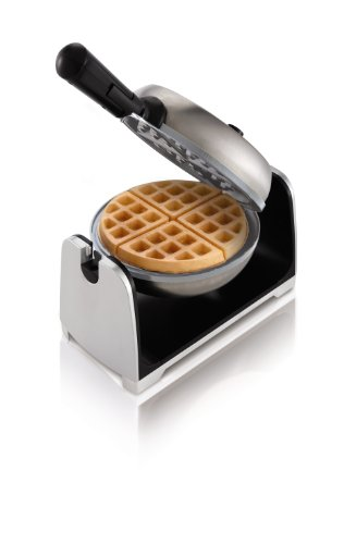 Oster Titanium Infused DuraCeramic Flip Waffle Maker, Stainless Steel...