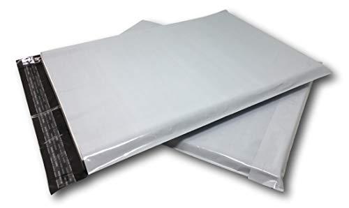 UniversGraphique, 10 Versandtaschen A3 350 x 450 mm Warensendung Wasserdicht Versandbeutel Weiß Plastik Blickdicht Selbstklebend Umweltschutz Geschenktasche Dünner Umschlag 22g