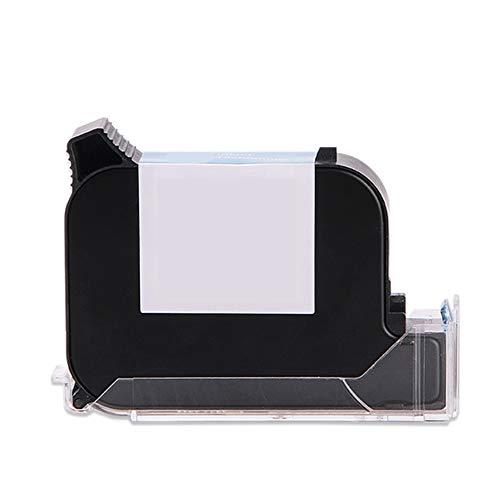 Cartuchos de impresora de inyección de tinta de mano Cartucho de secado rápido sin cifrar HD Adecuado para metal/plástico/vidrio/cable 12.7 mm 42 ml (negro)