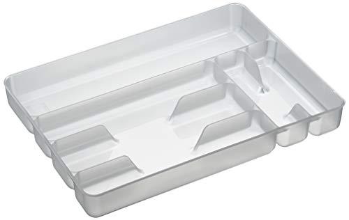 Excelsa 'arco iris' 6 compartimentos blanco bandeja de cajón para cubiertos