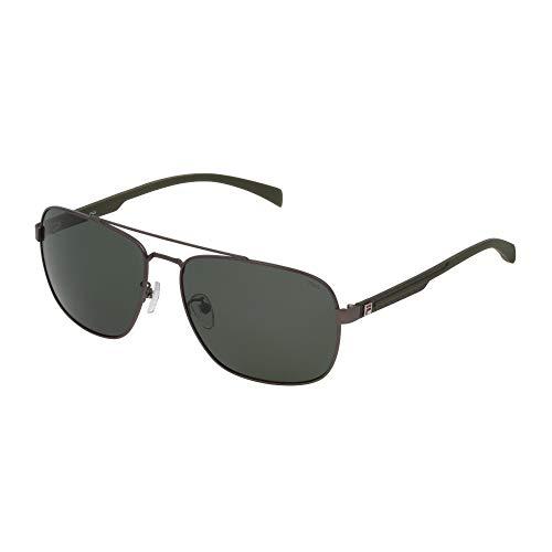 Fila Gafas de sol SF8493 627Z 60-16-145 unisex baquelita mate lentes green polarizadas