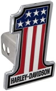 Harley Davidson Car Truck SUV Hitch Plug Cover Receiver - #1 Logo USA Flag Stars w/Script