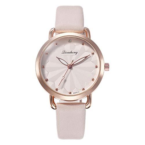 女性創造的な葉の方法ベルトの腕時計の女子学生の水晶腕時計
