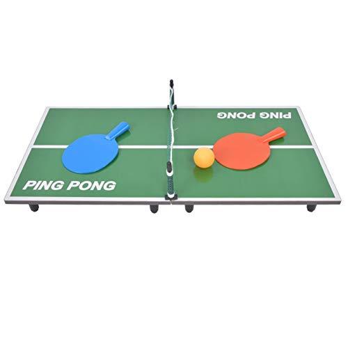 Mini Juego de Tenis de Mesa, Mini Juego de Ping Pong Yevenr Juego de Tenis de Mesa Plegable Mini Juguete de Mesa de Ping Pong para Interior