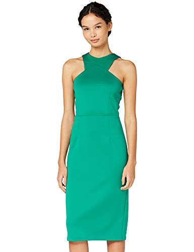 Amazon-Marke: TRUTH & FABLE ACB008 cocktailkleid,, Grün (Green), 34, Label:XS