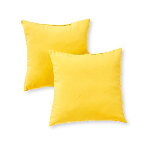Greendale Home Fashions AZ4803S2-SUNBEAM Sunburst Outdoor 17-inch Square Throw Pillow (Set of 2)