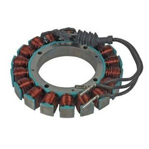 Rareelectrical NEW 12 VOLT 38 AMP STATOR COMPATIBLE WITH HARLEY DAVIDSON BIG TWIN SOFTAIL DYNA 30017-01 3001701