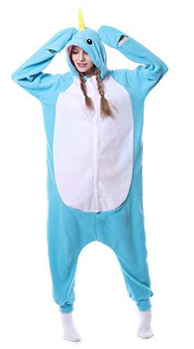 Dorliki Pijama para Adultos Cosplay Disfraz de Animal para Halloween Navidad Ropa de Dormir Ballena M