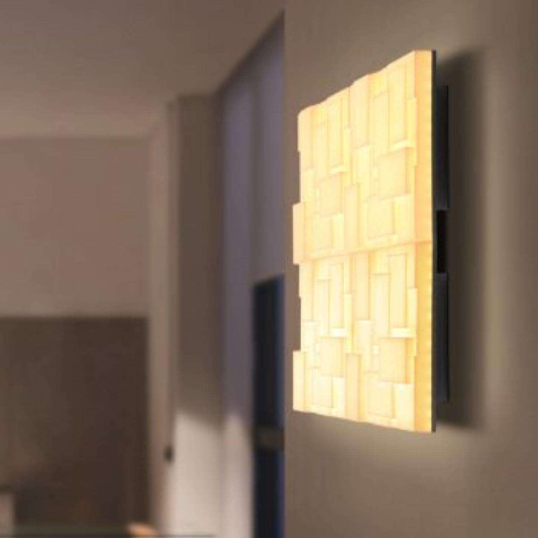 StiefelU LED Wandleuchte nach oben und unten Wandleuchten Studie Wohnzimmer Hintergrund Wandleuchte square Acryl freie Kombination W380 mm  h 100 mm Led