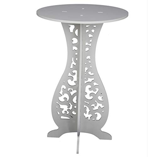 Shoze White Round Coffee Tea Side End Tables Rack Stand Modern Furniture Room Décor Wood Plastic Board Coffee Table Stand