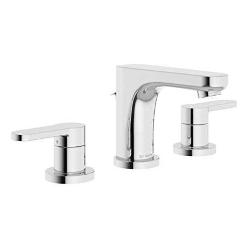 Symmons SLW-6712-1.0 Identity Widespread 2-Handle Bathroom Faucet with Drain Assembly in Polished Chrome (1.0 GPM)