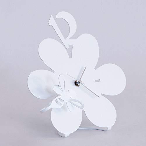 orologio da tavolo arti e mestieri ARTI E MESTIERI Orologio da Tavolo in Metallo Ape sul Fiore Bianco