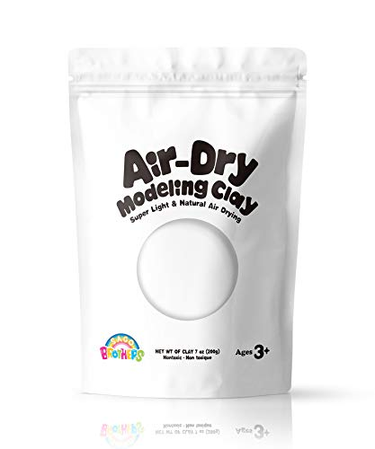 Sago Brothers Modeling Clay for Kids - White, Molding Magic Clay for Kids Air Dry, Super Soft Clay for DIY Slime, Ultra Light Air Dry Modeling Clay for Toddlers Children Teens