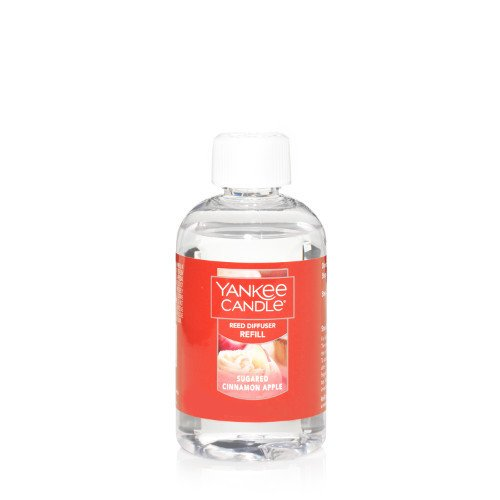 Yankee Candle Sugared Cinnamon Apple Reed Diffuser Oil Refill, Fruit Scent