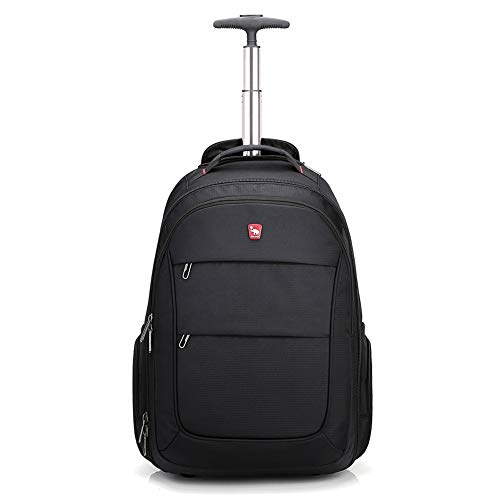 OIWAS Rolling Backpack for Laptop Large Wheeled School Bookbag Roller Daypack Travel Business Bags Suitcase Men Women
