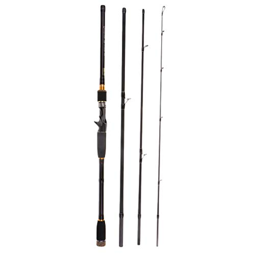 CUTICATE Baitcast Casting Rod 4 Teilig Angelrute 10 25g Lure Weight Travel Lure Rod - 3,0 cm