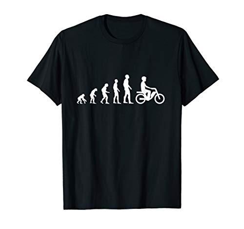 Evolution Mofa Motorroller Moped Fahrer Entwicklung T-Shirt