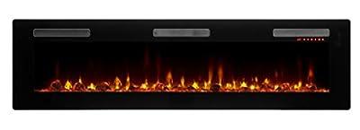 DIMPLEX Sierra Electric Fireplace, 72-INCH, Black