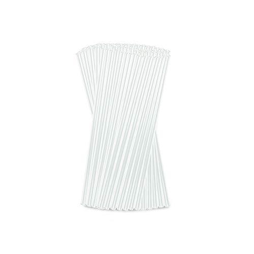 BIOZOYG Cannucce di Vetro Borosilicato 20 cm + 1 Spazzola per la Pulizia con Manico I 50 Pezzi Cannucce Trasparenti Infrangibili Lavabili in Lavastoviglie