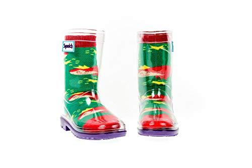 Squelch Gummistiefel Kinder · wasserdichte Gummistiefel · Gummistiefel durchsichtig · Unisex Gummistiefel · Regenstiefel Kinder · Kinder Gummistiefel Socken