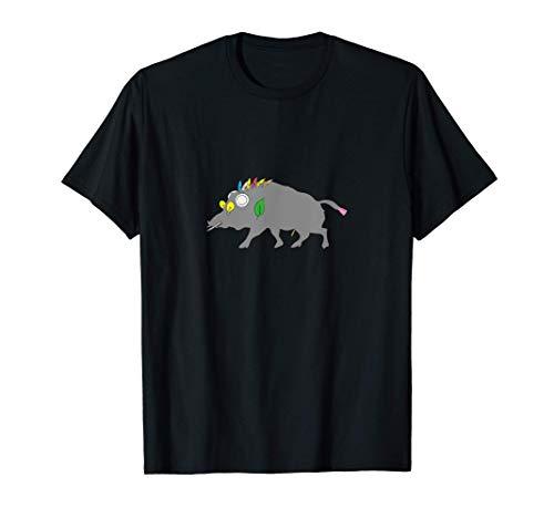 Keiler - Wildschwein, Jäger auf Jagd - Waidmannsheil T-Shirt