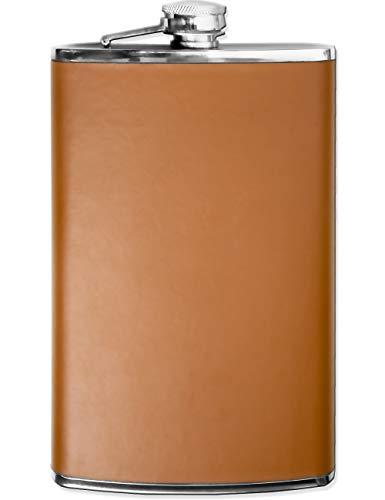 dise/ño de Piel Gran Botella de Bolsillo Gran Idea de Regalo Piel sint/ética marr/ón 750 ml Cierre de Rosca Botella de chupito Petaca de Acero Inoxidable XXL Outdoor Saxx/®