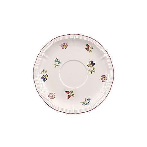 Villeroy & Boch Petite Fleur Frühstücksuntertasse, Premium Porzellan, mehrfarbig, 17 cm