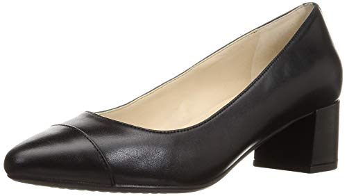 Cole Haan womens The Go-to Block Heel (45mm) Pump, Black Leather Wp, 10 US