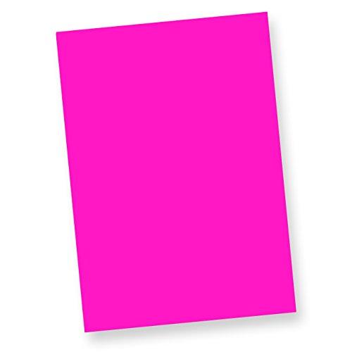 TATMOTIVE Neonpapier NEON DIN A4, 80 g/qm farbiges Briefpapier, Leuchtpapier, 100 Blatt - Pink