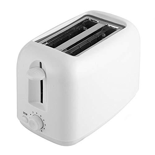 Qazwsxedc broodrooster, professionele broodrooster met 2 automatische micromodi, 800 W, 7 snelheden, anti-card-bescherming, chiptype pull, wit