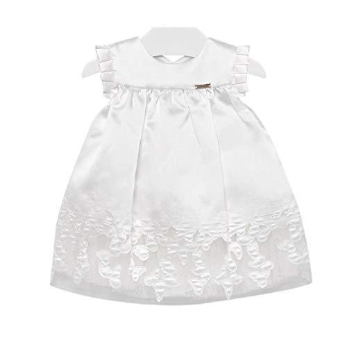 Mayoral Baby Mädchen Taufkleid Festkleid Kurzarm Bestickt weiß, Größe:86, Farbe:weiß