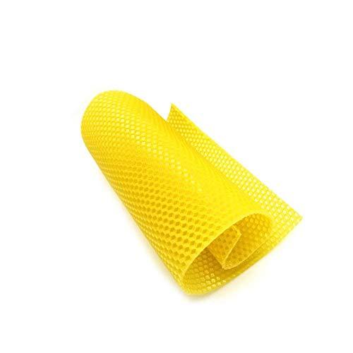 ausuky 10/30 Pcs Beeswax Sheets 90mm x 130mm 100% Natural Pure Beeswax Foundation Sheets Rolled Candle Kits (30 Pcs)