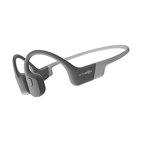 AfterShokz Aeropex Open-Ear Wireless Bone Conduction Headphones, IP67 Rated, Lunar Grey