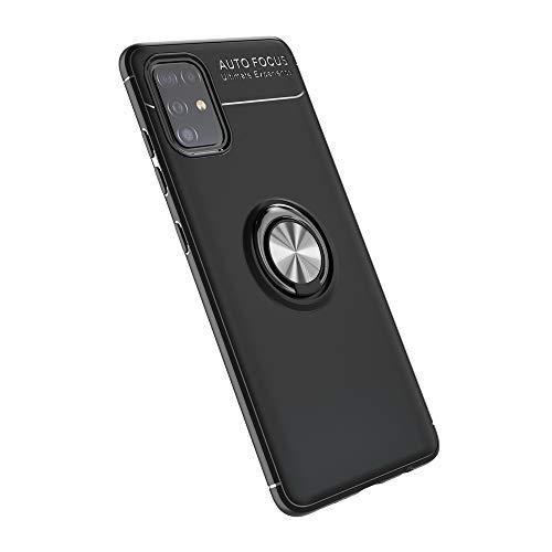 LAGUI Funda Adecuado para OPPO A53 2020, Soporte de Montaje Magnético del Coche Carcasa Especial, con Anilla Posterior, Pistola Color+Negro