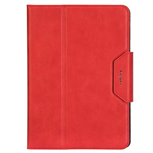 Targus VersaVu Classic Apple iPad (6th /5th gen), iPad Pro (9.7-inch), iPad Air 2 & iPad Air Protective Case with Slim TriFold Stand Cover, Enhanced Audio, Secure Strap Closure, Red (THZ73103GL)
