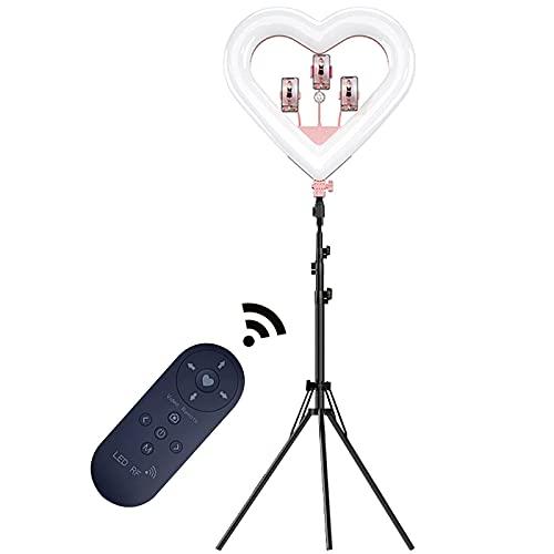 YQG Anillo de luz para Selfie de 20', luz de Anillo LED RGB 3000-5500K con trípode Control Remoto Interruptor de Control de Cable Pantalla HD para transmisión en Vivo/Maquillaje/Fotografía