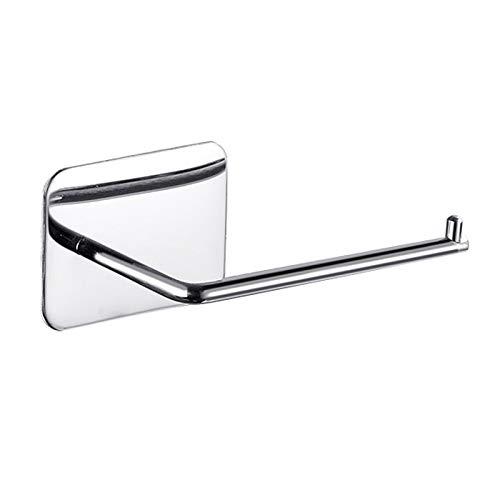 Hapeisy Support de papier toilette adhésif pour salle de bain, toilettes, hôtel, cuisine à coller sur le mur en acier inoxydable