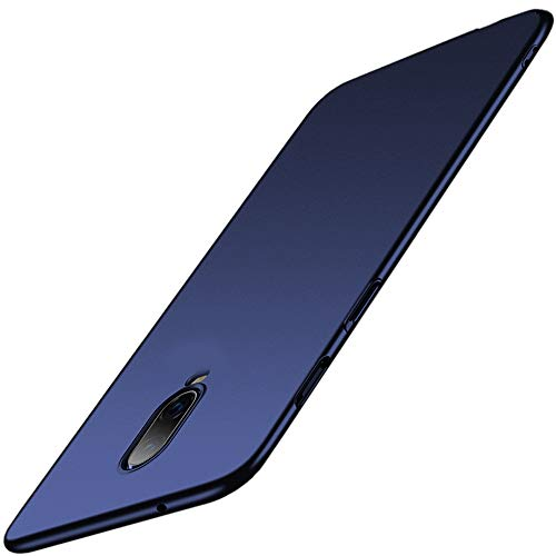 TheGiftKart Ultra Slim Flexible Soft Back Case Cover for OnePlus 6T (Matte Blue)