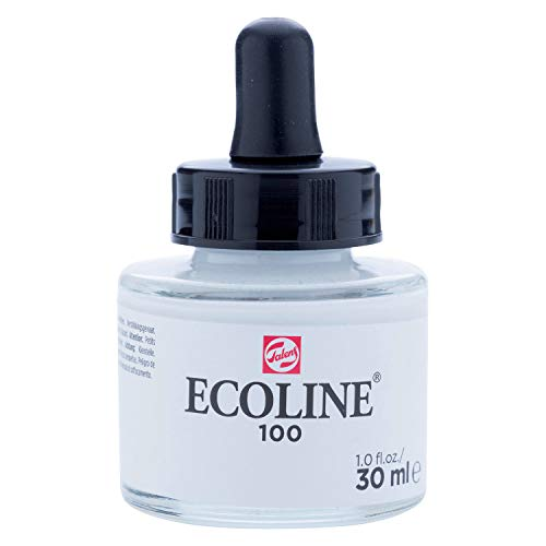 Royal Talens Ecoline Liquid Watercolor, 30ml Bottle, White (11251000)
