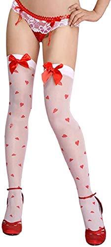 KIRALOVE Sujetadores sexys para mujer - corazón - lazo rojo - color blanco - talla única - zapatos para niña