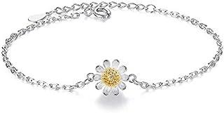 Women's 925 Sterling Silver Pave Heart Charm Bracelet