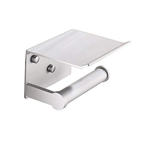 Portarollos Papel Higienico Aseo Los titulares de papel de aluminio del espacio estantes multifunción baño con Cenicero toalla Estante soporte for teléfono Accesorios for baño-Slive accesorios baño