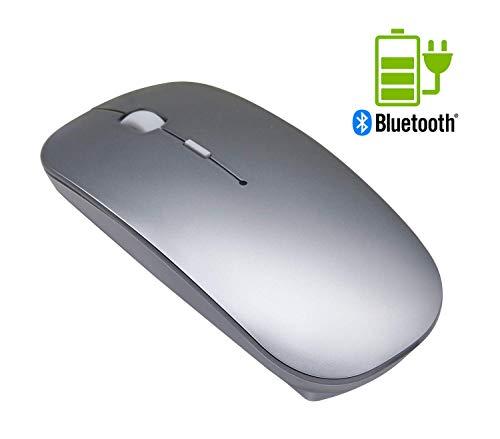 TSMINE leise drahtlos Bluetooth Maus Wiederaufladbare Mini Gaming Maus Computer Maus mit 3 einstellbaren DPI Level (800DPI, 1200DPI, 1600DPI), kompatibel mit PC, Mac, Desktop und Laptop