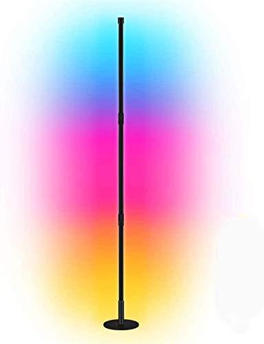 Lámpara de pie de esquina Decoración nórdica Piso de inicio Lámparas para la sala de estar Luz de noche Lámpara de pie Lámpara de pie Dormitorio Decoración Luz de piso, Control remoto Decoloración