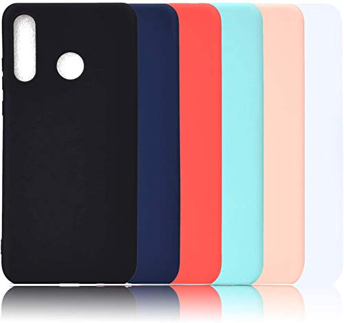 Juego de 6 TPU Silicona Funda para Huawei Honor 10i Carcasa Silicona TPU Ultra Fina Flexible Mate Cubierta Color Bumper Case Anti-Caída Anti-Arañazos Cover Carcasa para Huawei Honor P Smart Plus 2019