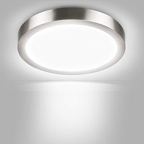 Lámpara LED de techo redonda – Unicozin 24 W LED Panel lámpara de techo, sustituye a bombilla de 150 W, luz blanca fría (6000 K), 2000 lm, diámetro de 29,5 cm, no regulable, marco de metal
