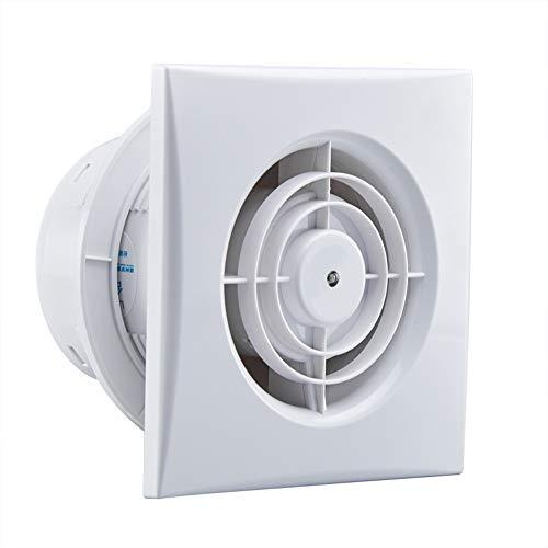 Ventilador Extractor de baño airRoxy Planet Energy, silencioso y de bajo Consumo, 130 m3/h, diámetro 100 S (100 mm), 12w