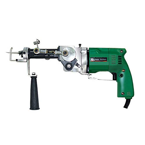 aikeec Máquina para tejer alfombras con pistola eléctrica manual para tejer alfombras, máquina para tejer alfombras (pila cortada, pila en bucle de doble uso) 9-18 mm de espesor de alfombra, 220 V