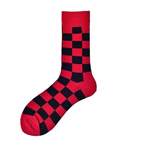Mannen sokken kleurrijke geometrische ruiten rooster gelukkig grappig skateboard Street Hip Hop Casual Fashion katoenen sokken